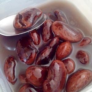 紫花豆の甘煮・ピンクとむらさき色☆