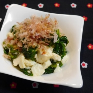 ねばねばおいしい☆モロヘイヤ&オクラ豆腐