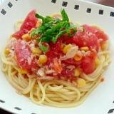 簡単★イタリアンドレッシングでトマトの冷製パスタ