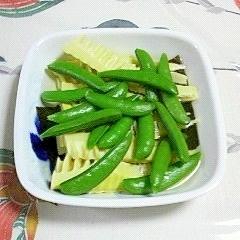 筍とスナップえんどうの煮物