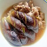 茄子と豚肉の煮物