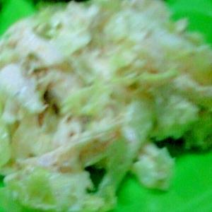鶏むね肉とキャベツのごまマヨーグルトま和え
