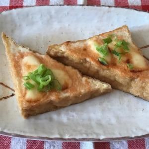 厚揚げのめんつゆ明太マヨチーズ焼き