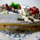 ふわんふぁん♪天ぷら粉で簡単クリスマスケーキ