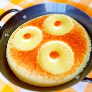 スキレットで焼き立てふわふわ〜パンケーキ♪