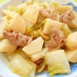 里芋と白菜豚肉の煮物