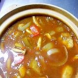 土鍋で熱々ナスカレー