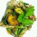 鶏肉と薩摩芋の甘辛炒め ごはんがすすむ