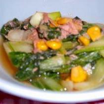 シーチキンと青梗菜のオイスターソース煮