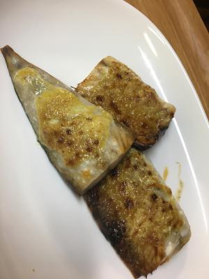 塩サバのカレーマヨネーズ焼き
