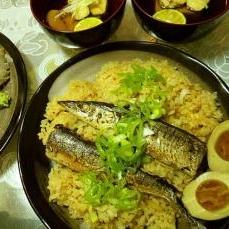 秋の味覚、鯛飯ならぬ「秋刀魚飯」
