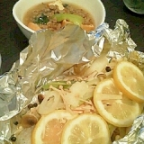 フライパンで作る、鮭のホイル焼き