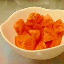 簡単さっぱりあと1品 ビネガー風味のトマト
