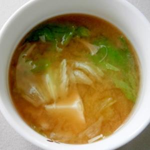 えのきとレタスの味噌汁