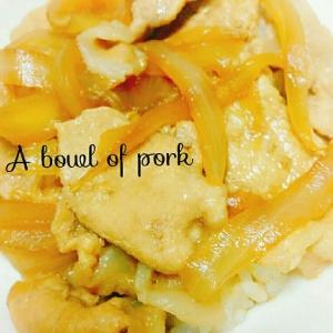 簡単☆ダシダで本格的な豚丼