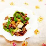 塩レモン&スパイス風味♪パプリカと豆腐の豚肉炒め