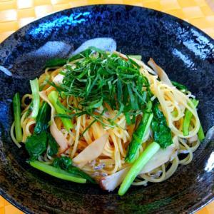 小松菜とエリンギの和風カッペリーニ