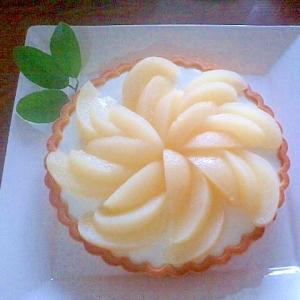 白桃のムースケーキ