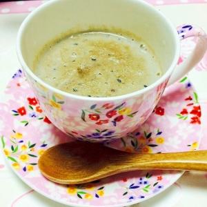 黒胡麻+小豆+豆乳+きな粉ドリンク