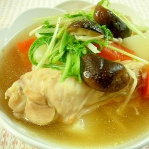 野菜ときのこたっぷり☆手羽元のスープ☆