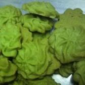 抹茶のヴィエノワ(絞り出しクッキー)