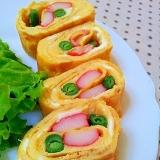 ✿いんげんとカニカマの卵焼き❤