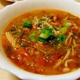具だくさんのHOT!HOT白菜スープ