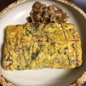 カニカマともずくの卵焼き