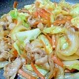 こってり野菜味噌炒め