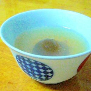 ☆大人向け☆梅酒の残り梅でひんやり寒天ゼリー