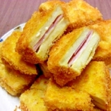 高野豆腐のハムサンドフライ