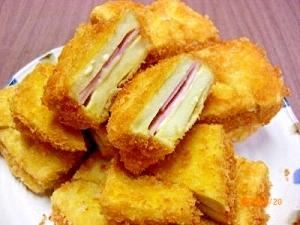 高野豆腐でハムサンドフライ