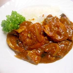 フライパンで☆夏野菜とホタテのトマトカレー☆