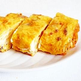 アーモンドとクリームチーズの玉子焼き