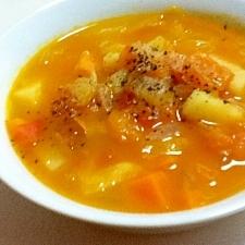 野菜の味満喫☆優しい味の食べるミネストローネ