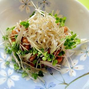 カリカリしらすとスプラウトの納豆