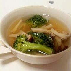 鶏ささみとキノコのスープ