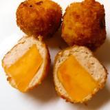 薩摩芋鶏ミンチ揚げ
