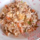 栄養満点☆ヒジキの焼き飯