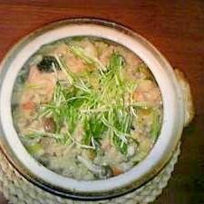 お野菜たっぷり☆鮭のしょうが味噌風味雑炊
