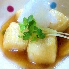 簡単天つゆで揚げだし豆腐