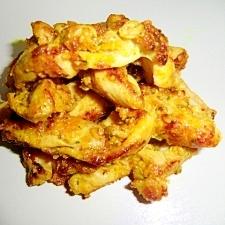 鶏肉のカレー風味でパン粉焼き☆
