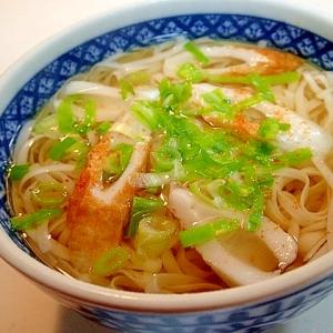 糖質0麺で 竹輪と葱のあったか麺