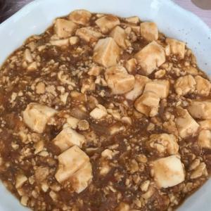 玉ねぎ入り麻婆豆腐