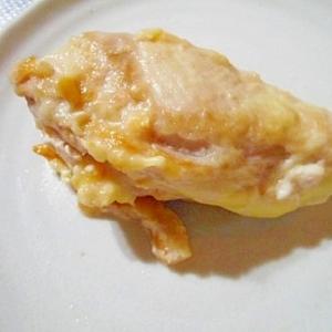 鶏むね肉のチーズはさみ焼き