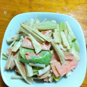 春山菜うるいと人参の味噌マヨネーズ和え