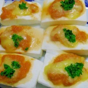 はんぺんの明太チーズ焼き