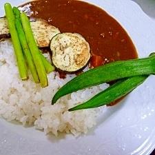 なす*おくら*アスパラ❤夏野菜カレー