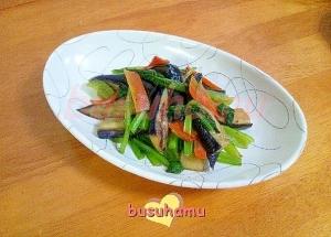 小松菜とナスの炒め物☆