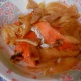 酢っきり美味しい!鮭と白菜の炒め物